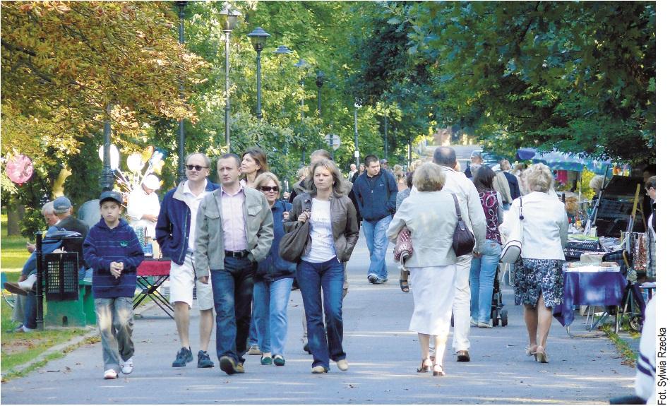 Turyści w Konstancinie