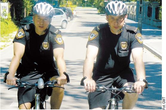 Straż miejska na rowerach